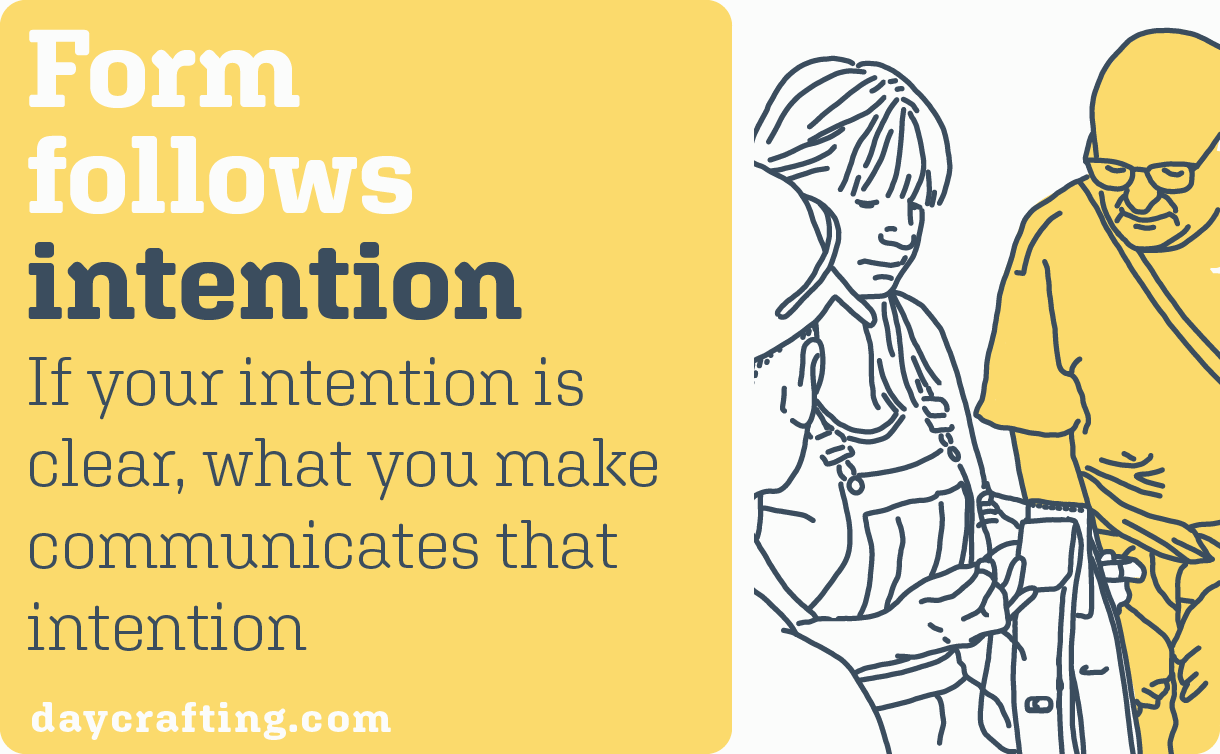 form follows intention illustration